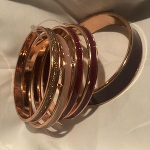Pink,gold, berry bangle bracelet